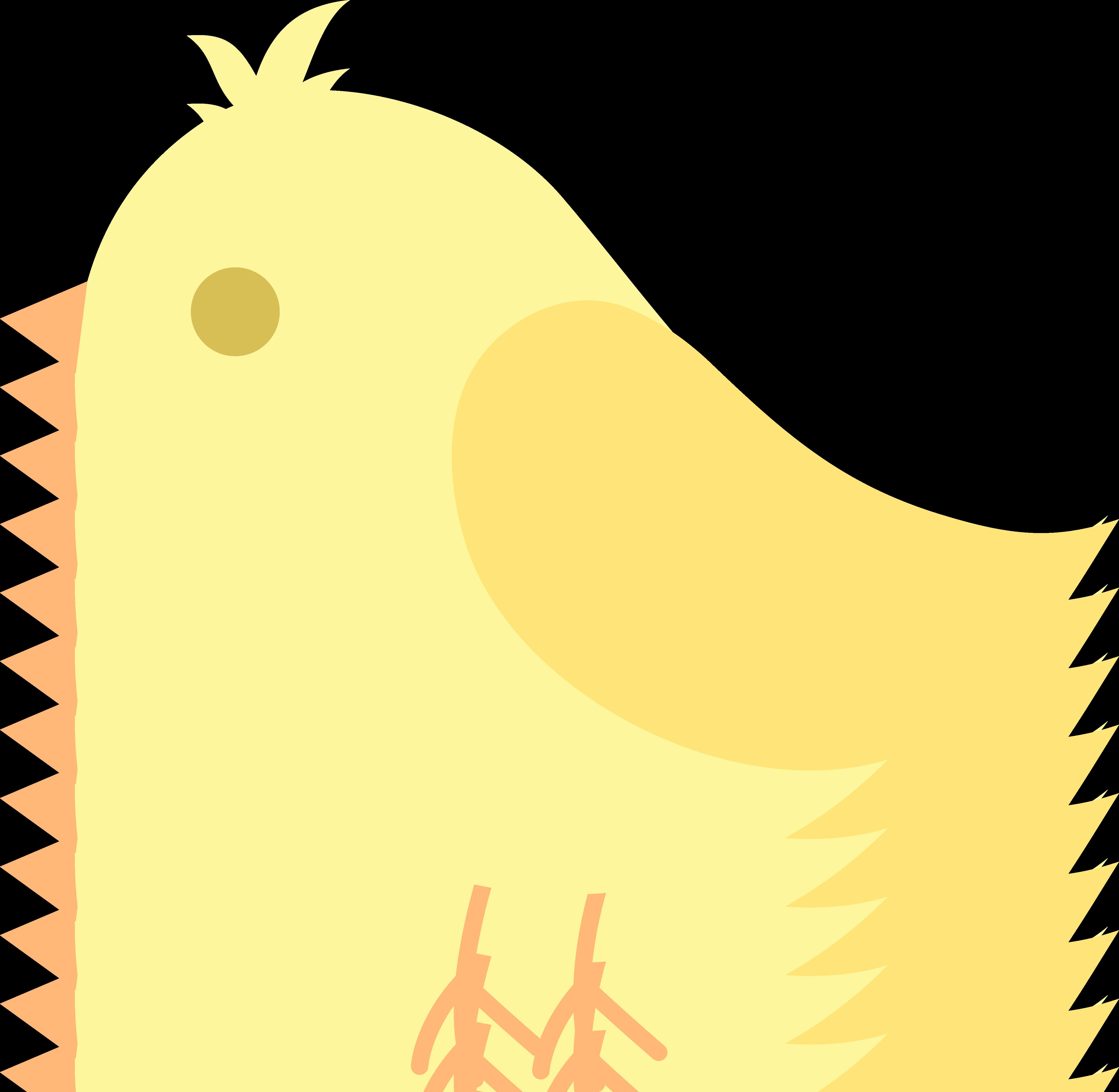 4621x4511 Cute Yellow Bird Clip Art