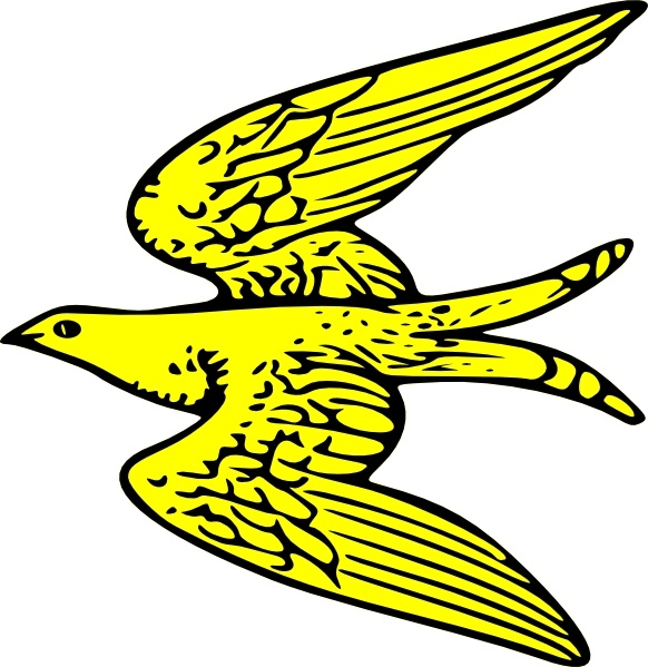 582x599 Flying Yellow Bird Clip Art Free Vector In Open Office Drawing Svg