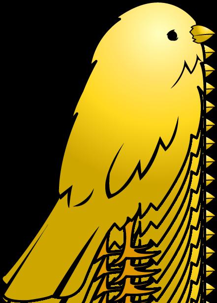 441x615 Free Clip Art Animals Pets Yellow Bird