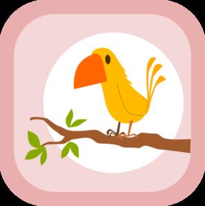 297x298 Perched Cartoon Yellow Bird Clip Art
