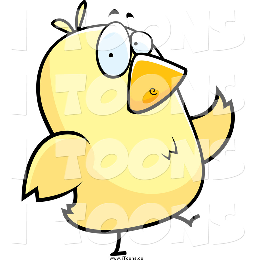 1024x1044 Vector Clip Art Of A Nervous Yellow Bird Walking By Cory Thoman