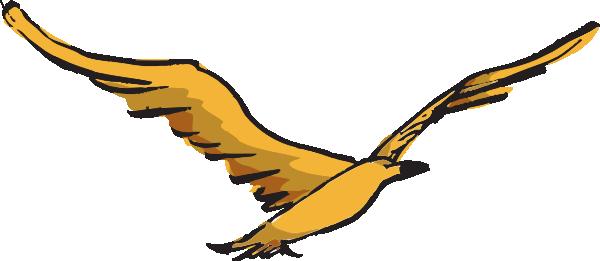 600x261 Yellow Bird Flying Clip Art