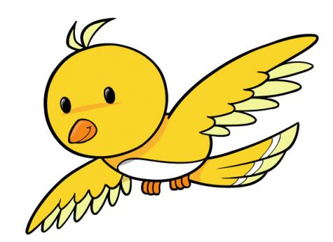 Bird yellow. Clipart free download best