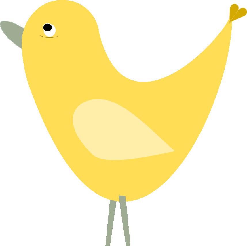 858x853 Yellow Cute Bird Clipart