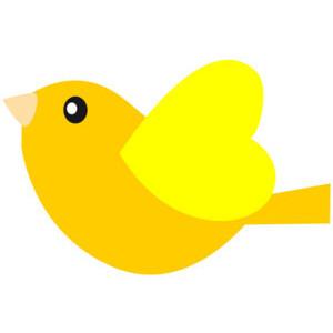 300x300 Yellow Bird Clipart