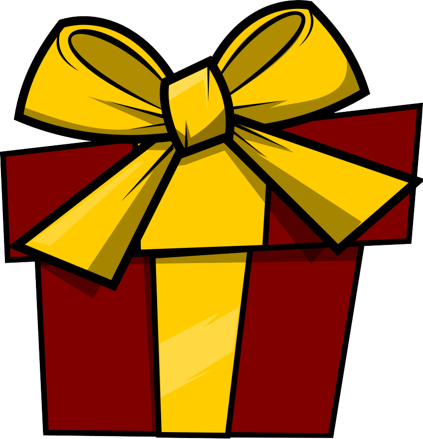 859x891 Holiday Book Gift Clipart