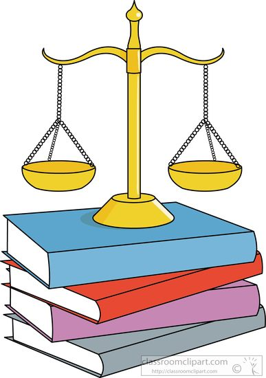 387x550 Legal Legal Balance With Law Books Clipart 3 Classroom Clipart