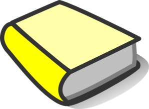 298x219 Yellow Book Reading Clip Art
