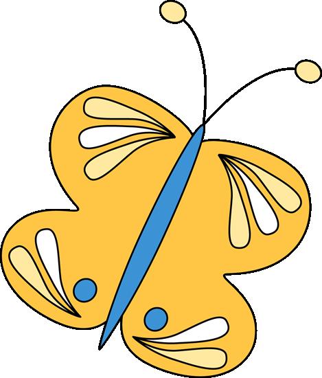 469x550 Yellow Butterfly Clip Art
