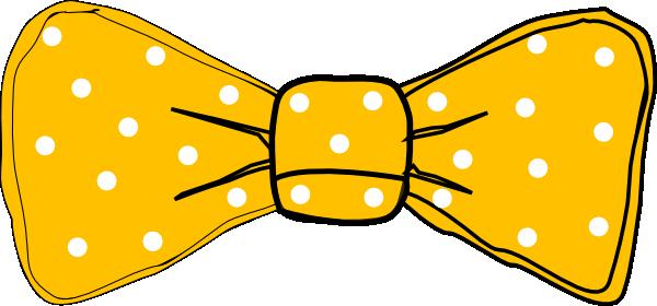 600x280 Bow Tie Yellow Clip Art