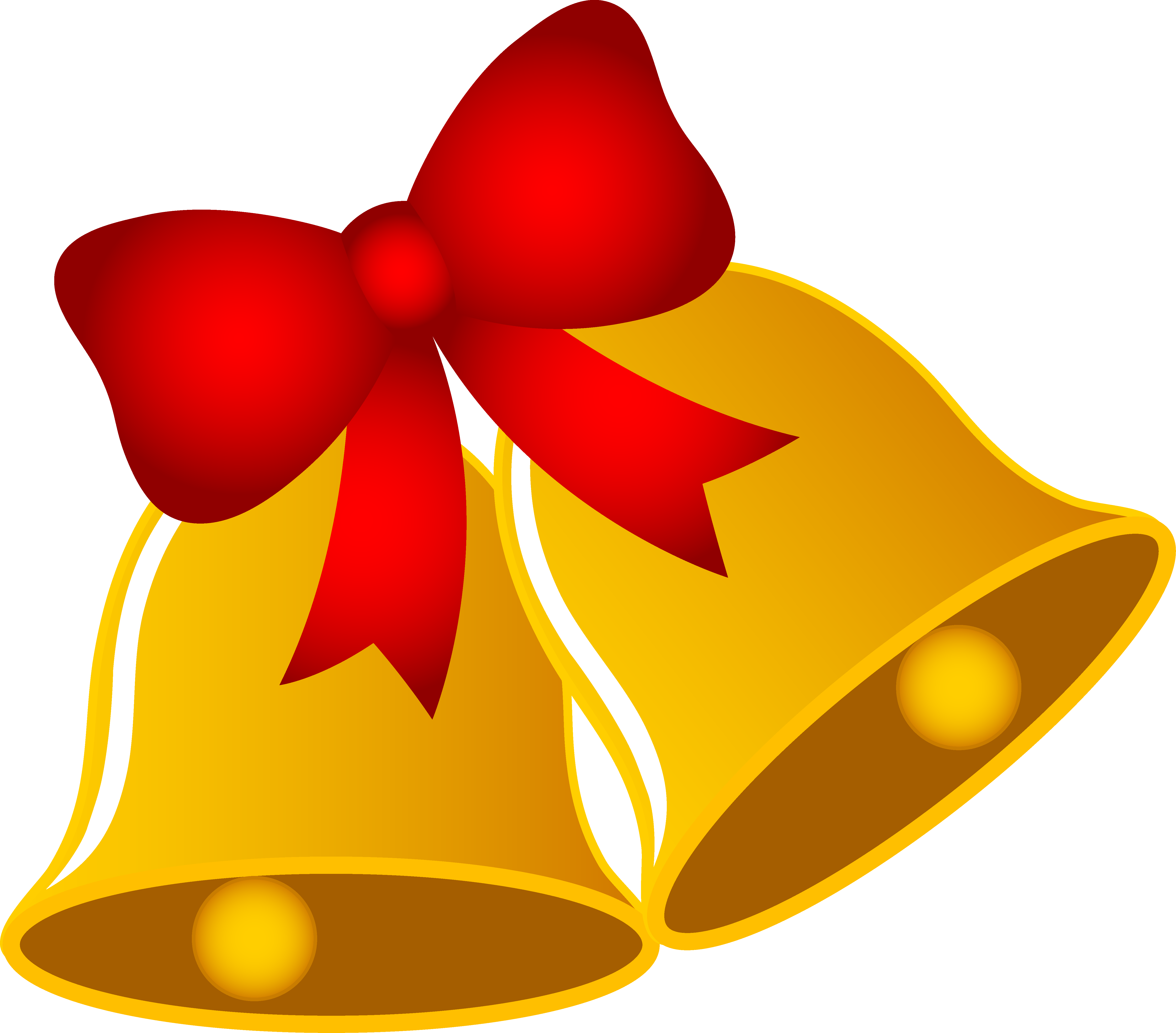 5658x4972 Christmas Bells With Ribbon