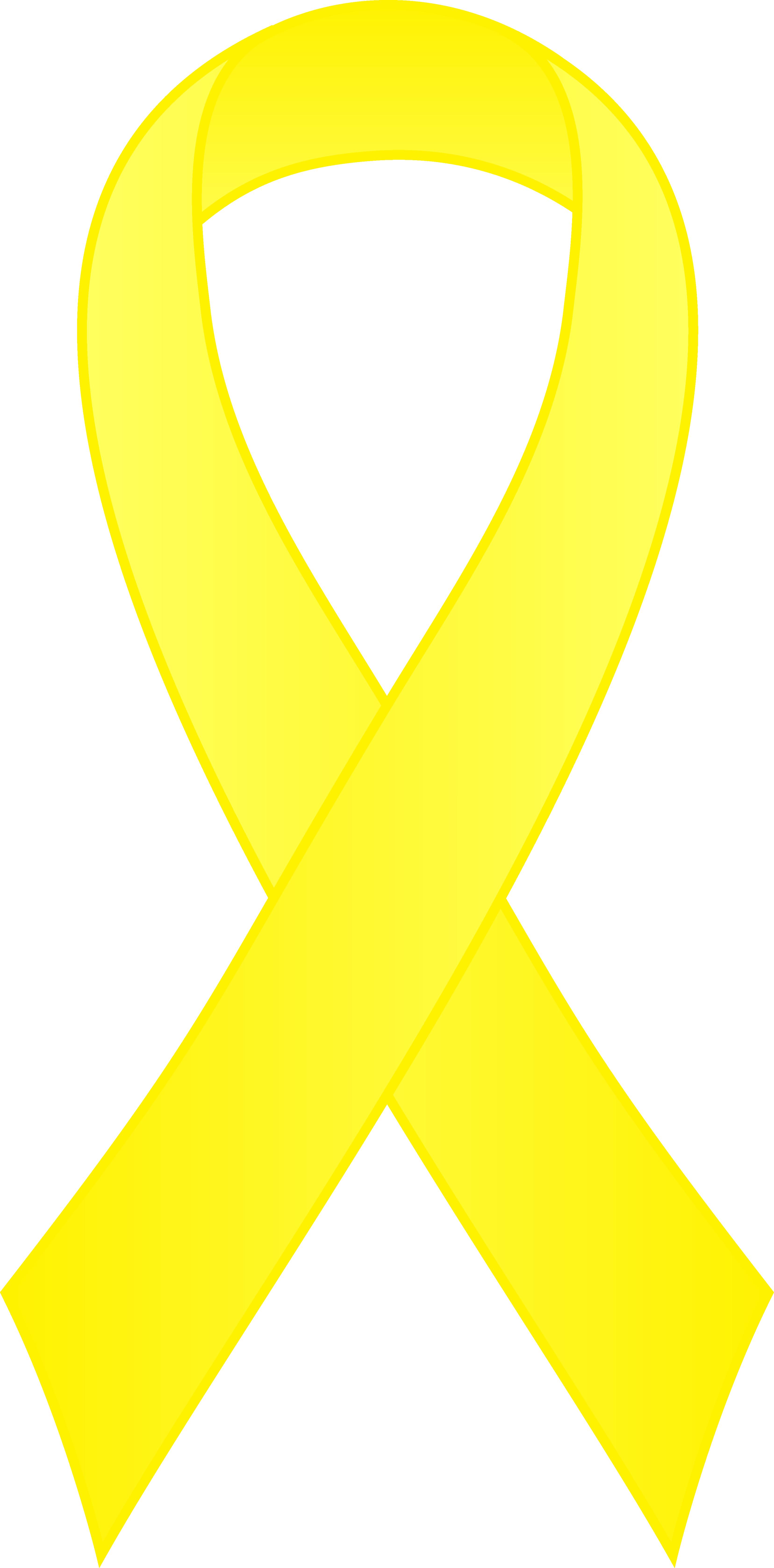 3312x6714 Clipart Ribbon Yellow