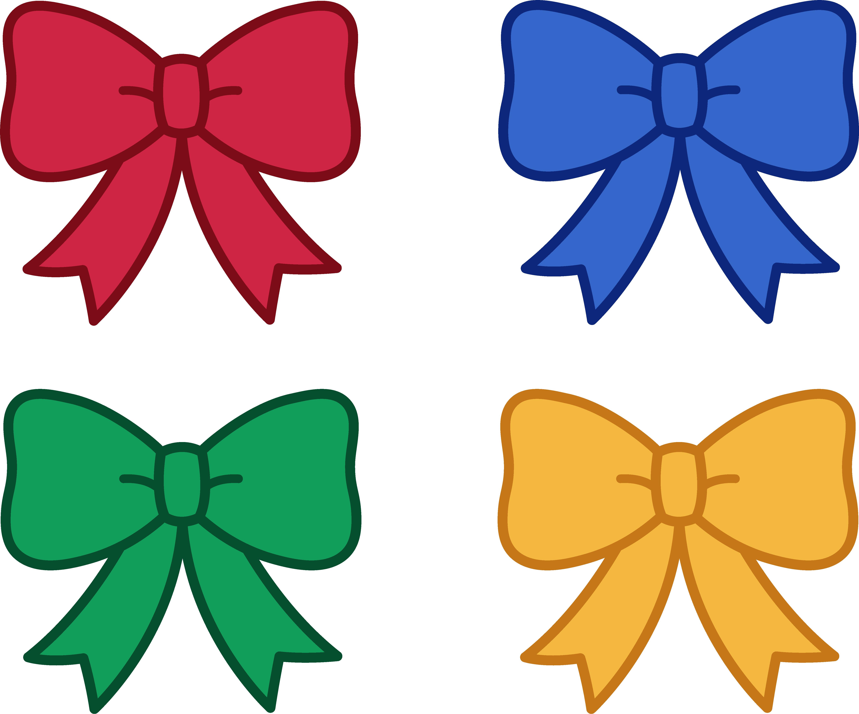 5345x4445 Cute Christmas Bows Clipart