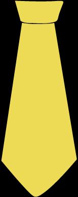 154x386 Tie Clipart Yellow