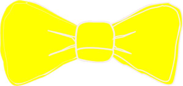 600x282 Yellow Bow Clip Art