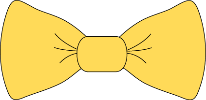 423x207 Yellow Bow Tie Clip Art