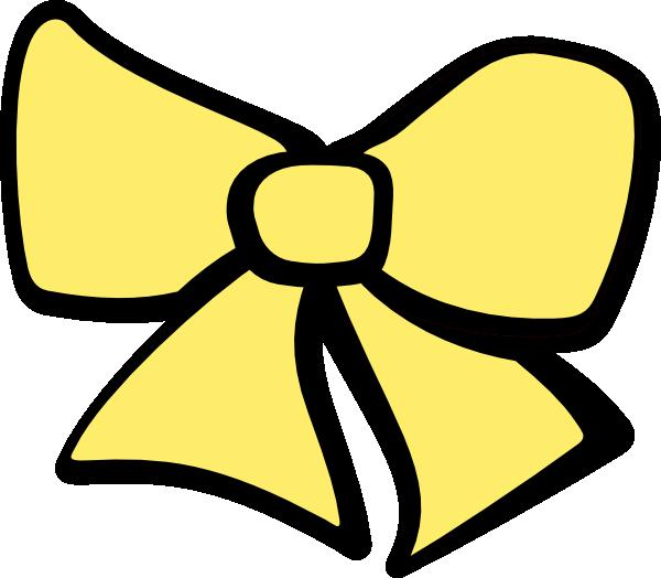 600x524 Yellow Clipart Hair Bow