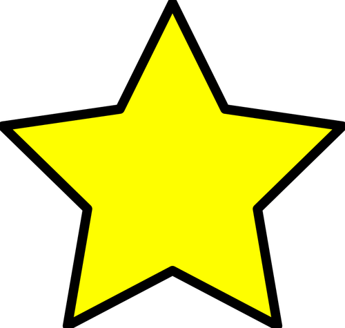 500x475 Yellow star image Public domain vectors
