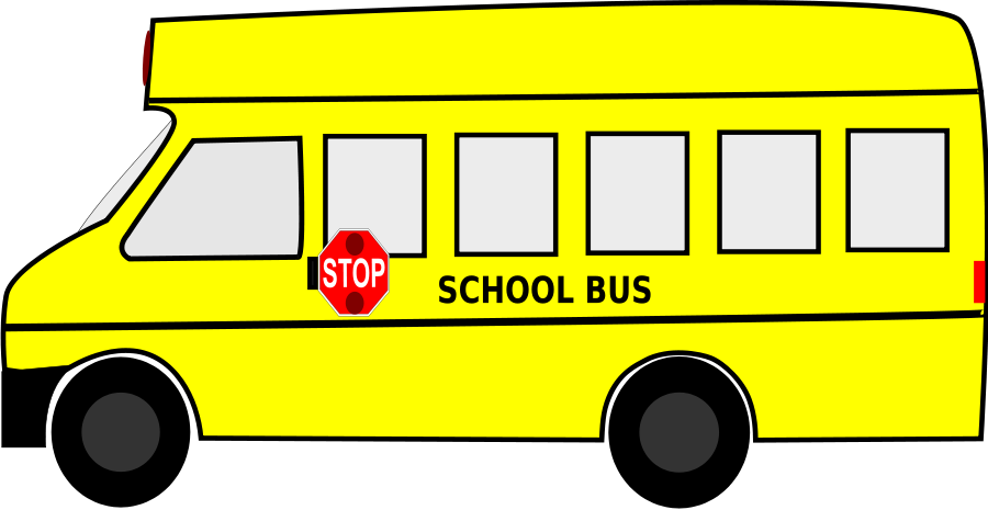 900x465 Bus Clipart Yellow Bus
