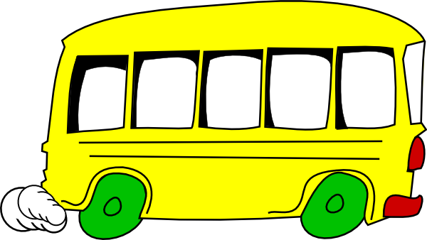 600x338 Yellow Bus Clip Art