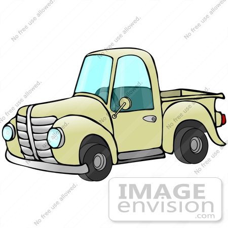450x450 Cliprt Graphic Ofn Old Fashioned Yellow Pickup Truck