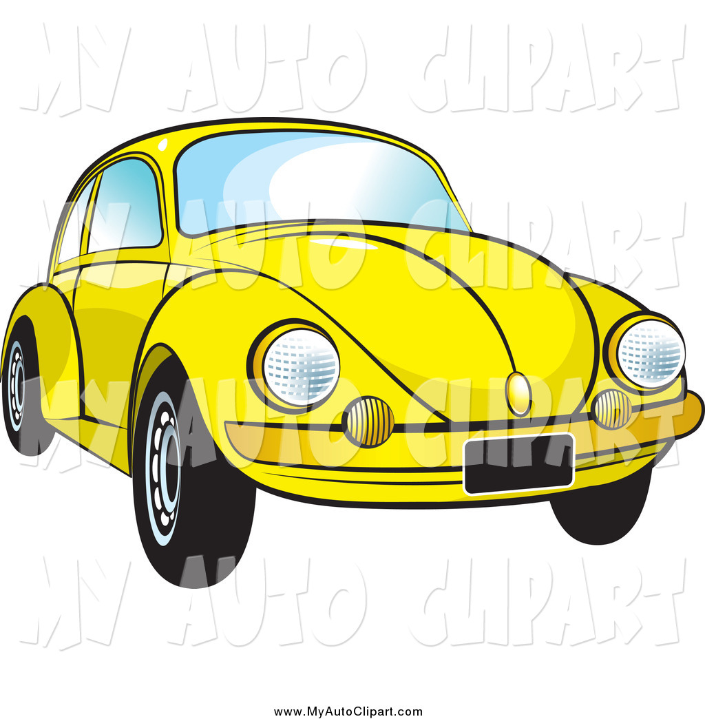 1024x1044 Clip Art Of A Yellow Vw Bug Car By Lal Perera
