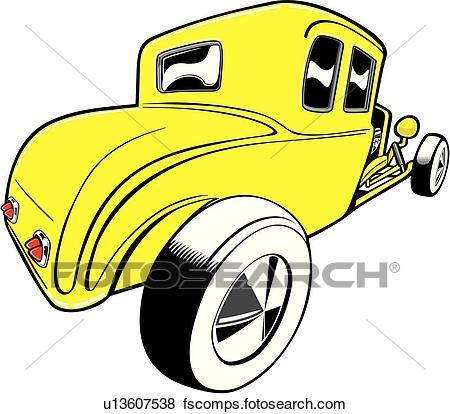 450x414 Clip Art Of Car, Auto, Automobile, Cars, Autos, Automobiles, Deuce