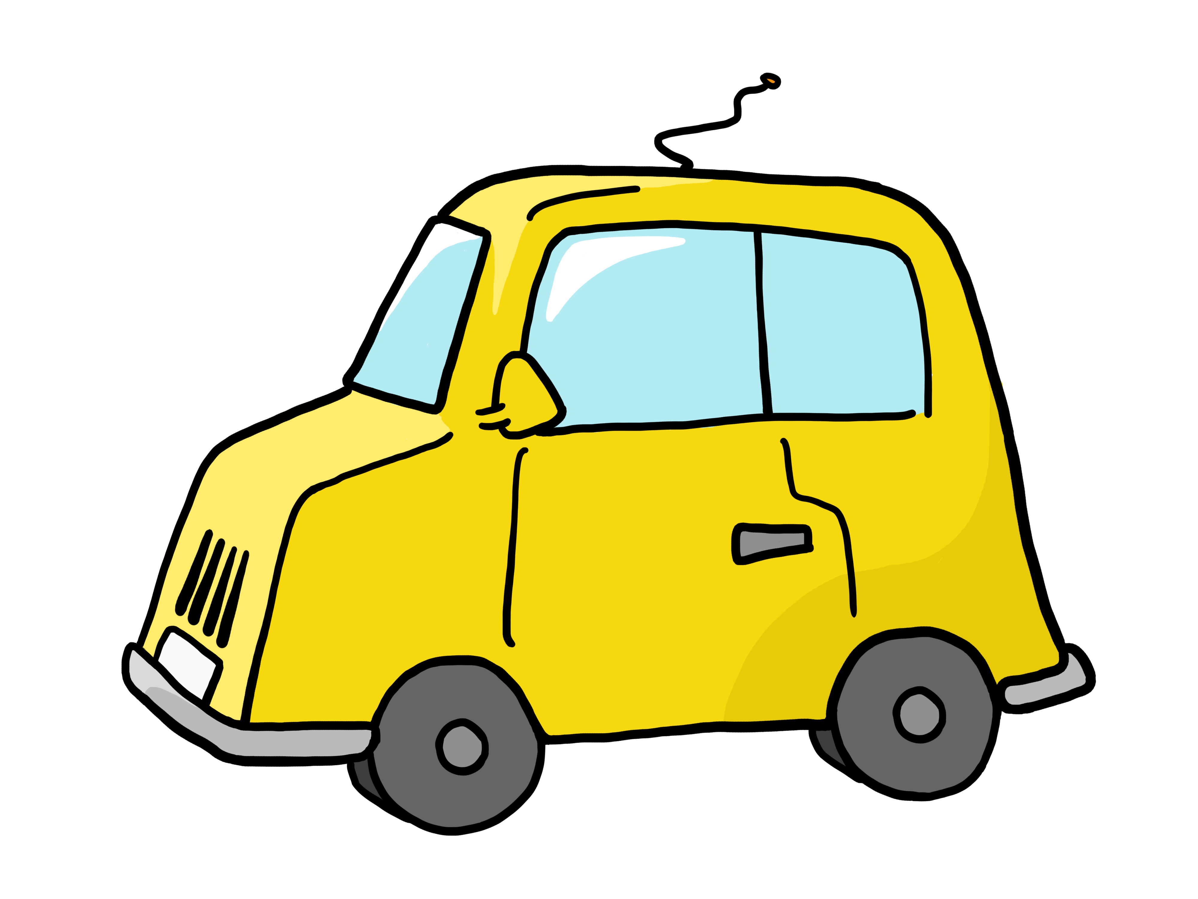 4000x3000 Yellow Car Transportation Clipart