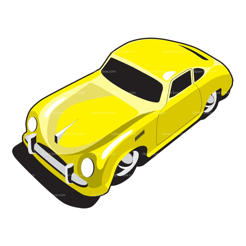 800x800 Yellow Race Car Clipart