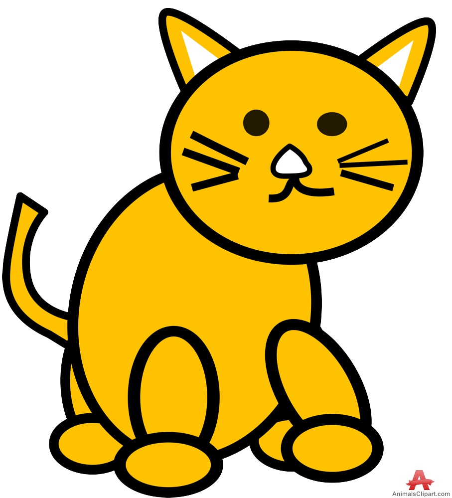 907x999 Cat Outline Drawing In Color Free Clipart Design Download
