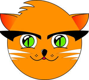300x268 7970 Cartoon Cat Face Clip Art Public Domain Vectors