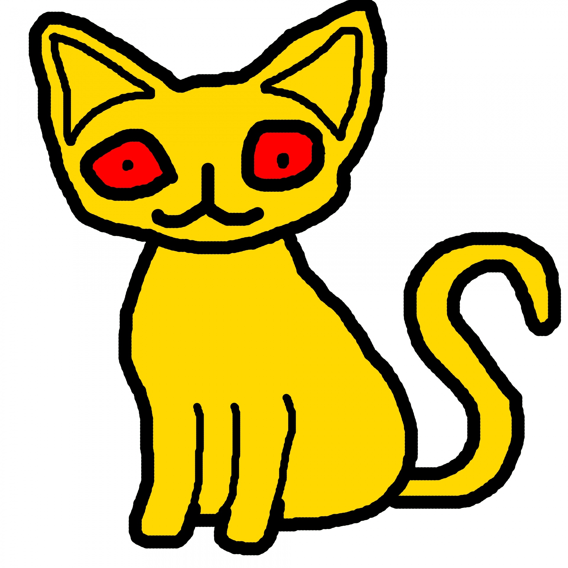 1920x1920 Yellow Cat 2 Free Stock Photo