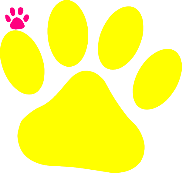 600x571 Yellow Cat Paw Clip Art