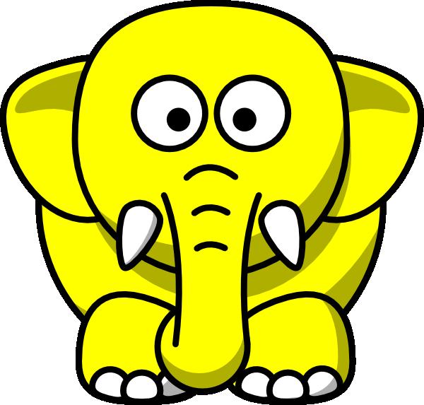 600x573 Yellow Elephant Clip Art