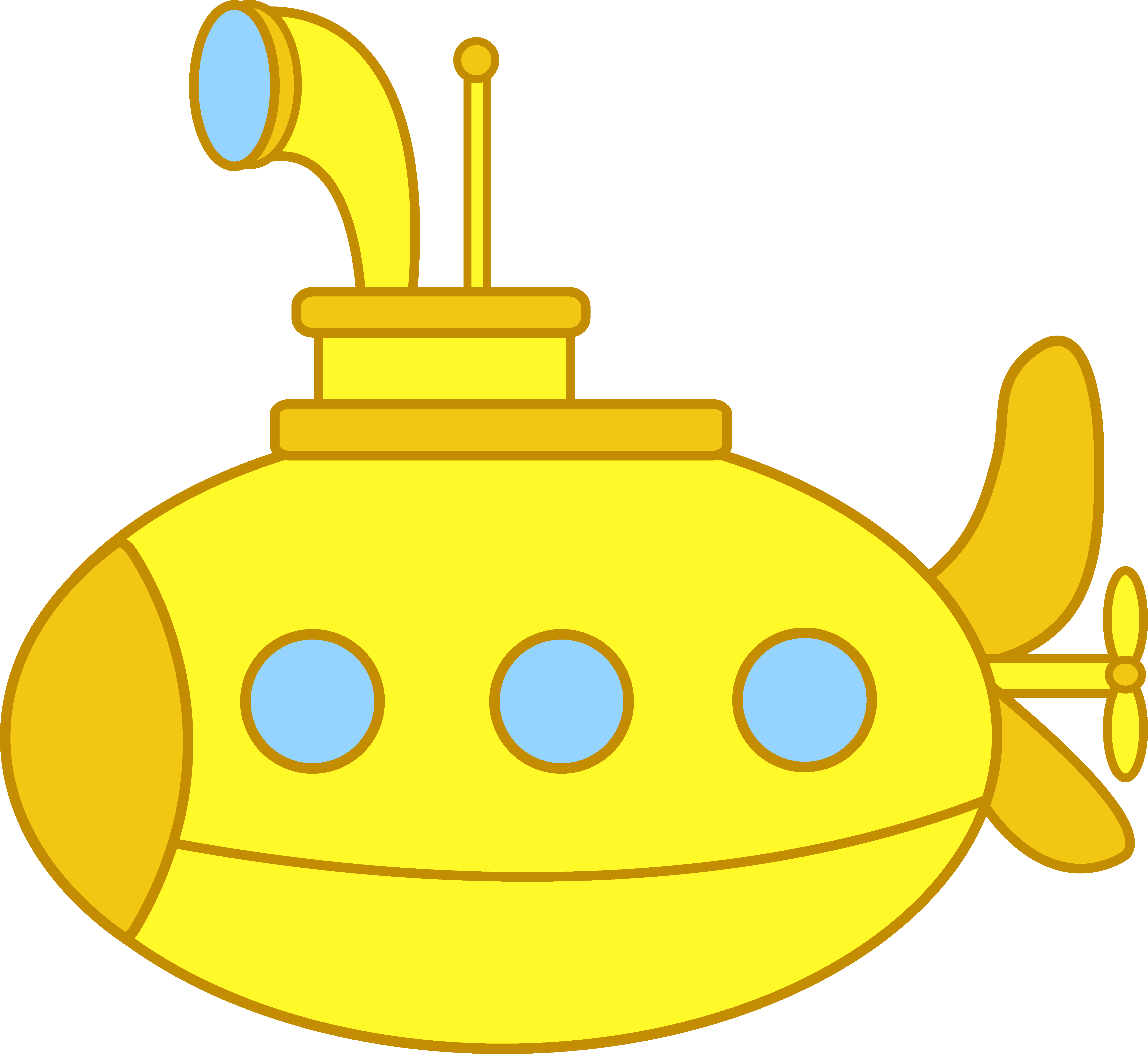 5486x5038 Cute Little Yellow Submarine