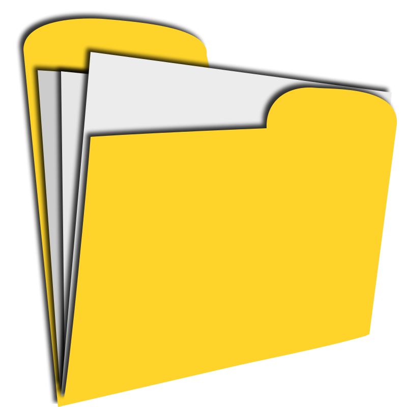 800x800 Free Yellow Folder Clip Art