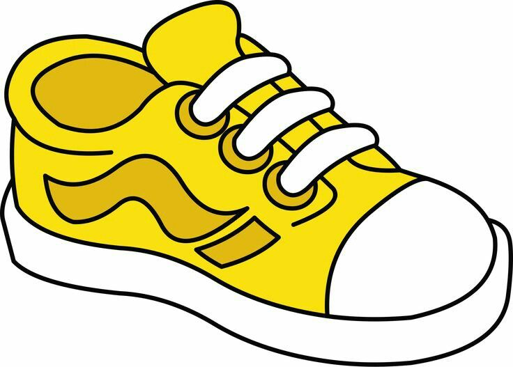 736x527 Tennis Shoe Yellow Shoes Cliparts Free Download Clip Art