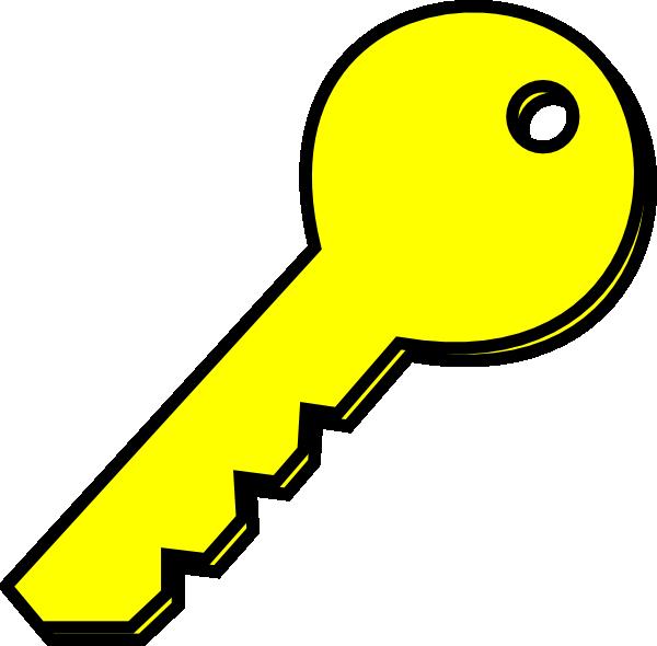 600x590 Yellow Key Clip Art