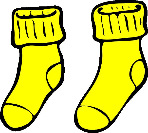 600x539 Yellow Socks Clip Art