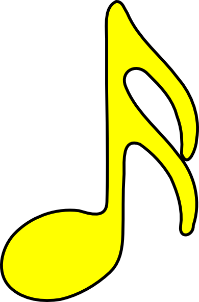 390x591 Yellow Clipart Music Note