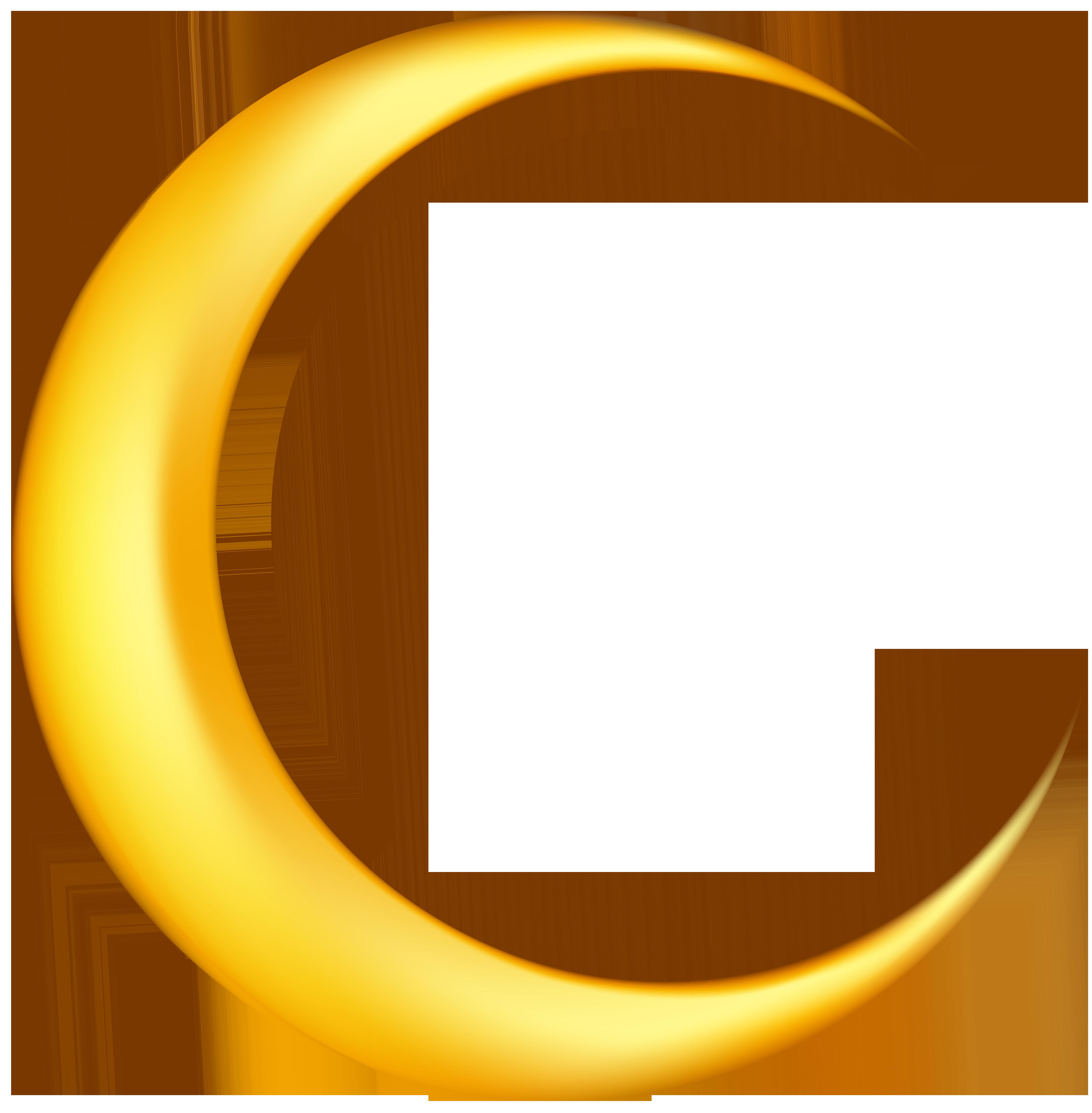 5011x5108 Yellow New Moon Clip Art Image