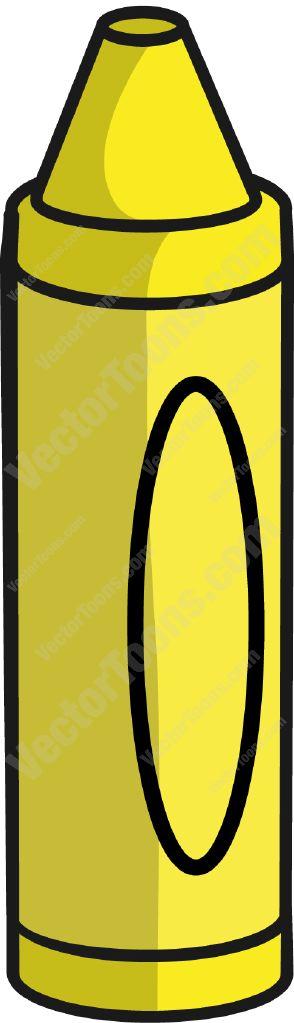 294x1023 Crayon Clipart Color Yellow
