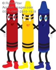 238x300 Top 75 Crayons Clip Art