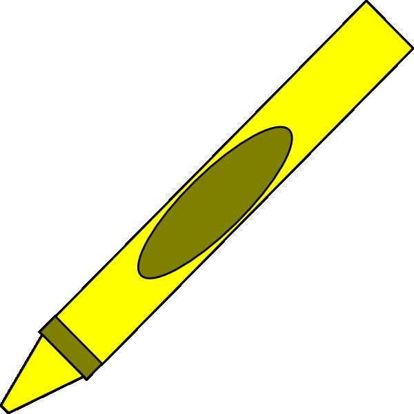 600x600 Totetude Yellow Crayon Clip Art