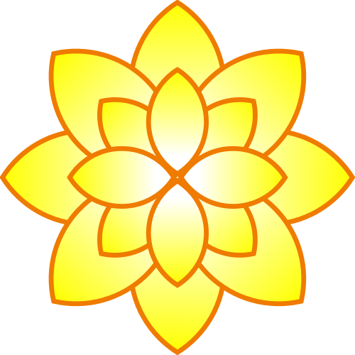 500x500 Purple Clipart Yellow Flower