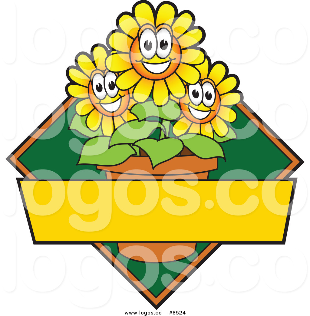 1024x1044 Royalty Free Clip Art Vector Logo Of A Happy Yellow Daisy Flower