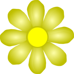 297x299 Yellow Flower Clip Art