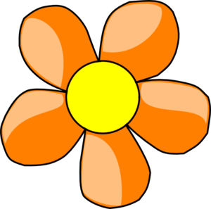 300x297 Orange Daisy Clip Art