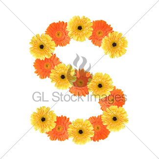 325x325 Alphabet T Created By Flower Gl Stock Images