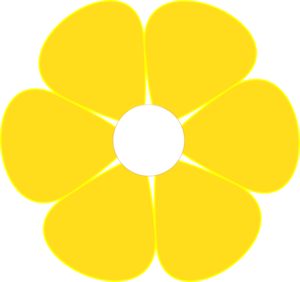 300x282 White Flower Clipart Yellow Daisy